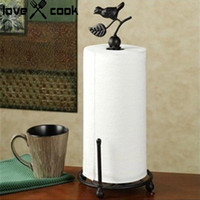 Wholesale Metal Kitchen Tissue Holder Seat Type Roll Paper Holder Towel Rack Household Tissue Paper Stand Tissue Rack Holder Kitchen Tools