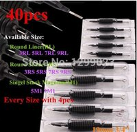 Wholesale box Disposable Tattoo Grips Tube with tattoo Needles Assorted Mixed Size quot mm Tattoo grip Disposable tattoo tubes