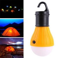 Wholesale Camping Outdoor Light LED Portable Tent Umbrella Night Lamp Hiking Lantern V8 Card Button Lamp Bulb