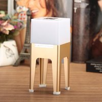 Wholesale Wireless Bluetooth Speaker Stereo Music Soundbox with TF Card Slot Colorful LED Lights Stand for iPhone iPad Tablet PC
