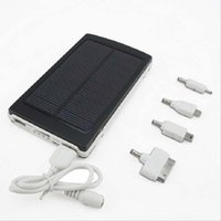 Wholesale Portable Solar Power Bank MAH bateria externa portatil Dual USB LED External Mobile Phone Battery Solar Charger Backup Powerbank