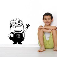 Wholesale Happy Cartoon Movie Despicable Me Cute Minions Wall Sticker for Kids Room Classroom Decor Home Decal Gift for Kids ZYMS004