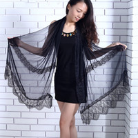 Wholesale Europe and the United States new spring Lace Scarf Shawl pearl air explosion