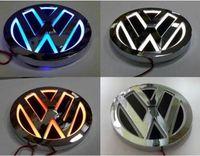 Wholesale 5D VW CAR Rear LED Light Badge Logo For GOLF MAGOTAN CC TIGUAN BORA SCIROCCO Dia cm White Orange Blue Red ABS Material