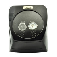 Wholesale Jebely Dual Watch Winder Diplomat Case Box Storage Timer Black Dual Automatic JA075 Black
