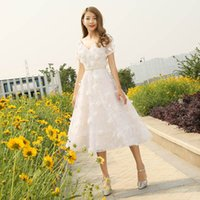 Wholesale Dress the new cultivate one s morality show thin short skirt dress female temperament elegant dress lace short sleeved sisters