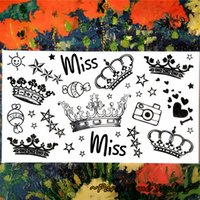 adult wall stickers - Miss Crown Temporary Tattoo Body Art Flash Tattoo Sticker cm Waterproof Adult Sex Products Tatoo Home Decor Wall Sticker