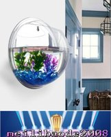 acrylic aquarium tanks - 17 cm Aquarium Fish Tank Wall Hanging Mounted Bubble High Quality Acrylic Home Decoration Pot MYY166