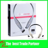 Wholesale Gold Tone Infinim HBS CSR Bluetooth Headset Headphone for LG iPhone s s s plus White box