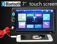 Wholesale 12V Bluetooth Car Radio Car Stereo AUX IN MP3 Audio Player USB SD In Dash DIN Car Electronics Subwoofer Remote For Iphone