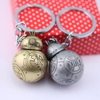 Wholesale Star Wars toys the force awakens BB8 BB Droid Robot pendant Action Figure Alloy Star Wars keychains key ring keyring gifts LA215