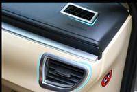 Wholesale 4pcs Car Chrome Air Condition Vents Outlet Cover Trim Matte For Toyota Corolla