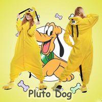 adult halloween onesie - Hot Cartoon Pluto the Dog Kigurumi Pajamas Halloween Cosplay Costume Adult Onesie Sleepwear Size S M L XL