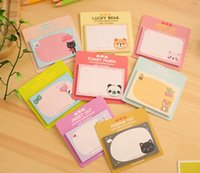 Wholesale Cartoon Memo Pad Cute Post It Sticky Note Post It Sticker Office Stationery Planner Notepad Kawaii Notebook Scrapbook