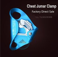 Wholesale Rock Climbing Chest Apparatus Jumar Clamp Catch Climbing Mountaineering Equipment