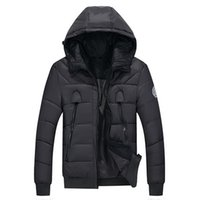 Wholesale New winter coat Korean version of men s casual warm coat detachable cap thick padded influx of young men clearance