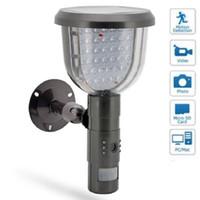 al por mayor cámaras de seguridad dvr solar-Cámara Cámara solar solar de seguridad de DVR con detección de movimiento de grabación de vídeo Con Llights 39 PC LED