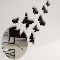 Wholesale New Relogio De Parede Wall Art Clock Modern Design D Crystal Mirror Wall Watches Home Decoration Living Room Decal