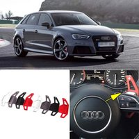 auto shifters - 2pcs Alloy Add On Steering Wheel DSG Paddle Shifters Extension For Audi S3 Auto parts