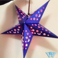 Wholesale Whosale D Lantern Stars Lampshade bar The stars gift laser Paper stars Christmas supplies Holiday party decoration