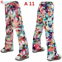 Wholesale Newest High Quality Winter Colorful Snowboarding Pant K K Cotton Trousers Very Warm Skiing Pant for Women