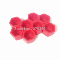 Wholesale Car Styling mm Silicone Wheel Nuts Caps Bolt Covers General Car Accessories Red accessories poster