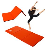 Wholesale Thick Folding Panel Gymnastics Mat Gym Fitness Exercise Stretching Yoga Tumbling