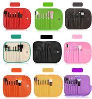 Wholesale Selling Wholesale Make Up - Hot Selling 7pcs Makeup Brush Set Tools Personal Blush Eyeshadow Make Up Brushes Multi Color Cosmetic Brush With PU Bag Kabuki Brush