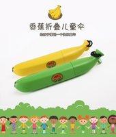 Wholesale Banana Paraguas Rain and Parasol Cute Umbrella For new Children Novelty Kids Gifts Um banana Shaped Folding Umbrella