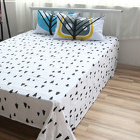 Wholesale Cotton Bed Linen Trees Sheet Sets Custom Size Cotton Flat Sheet Queen Plant Fitted Sheet Twin Case Beddig Sets