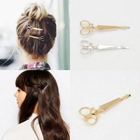Wholesale Womens Fashion Scissors Shape Hair Clip Delicate Hair Pin Jewelry Hair Decoration