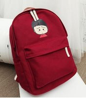 animated backpack - the new animated cartoon sakura momoko of canvas bag backpack female college students