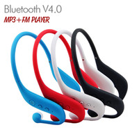 Wholesale Sports Wireless Bluetooth V4 In ear Headset Earphone Stereo Music MP3 Player FM Radio with TF Card Slot for iPhone Samsung