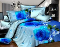 Wholesale 4 cotton Designers d Reactive printing bedding sets comforter duvet covers bed cheet Pillowcase bedclothes bed Linen Bedding Supplies