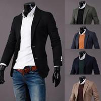 Wholesale Mens New Arrival Autumn Suits Jacket For Men Solid Color Blazer Men Fashion Slim Fit Man Jacket