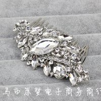 art zinc - South Korea Bride Beautiful Alloy Full Of Drilling Art Diamond White K Plate Hair Plug Comb High End Hair Comb Hair HY1610