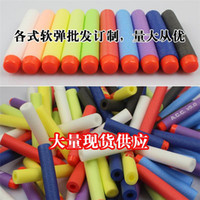 Wholesale Nstrike Elite Rampage and Retaliator bullets Refill Clip Darts electric toys foam bullets guns soft nerf bullet outdoor toy bullet