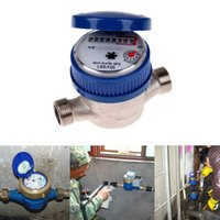 Wholesale Garden Home mm quot Cold Water Meter With Free Fittings for Garden Home Kitchen Bathroom E5M1