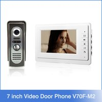 metal panel - 7 inch TFT Color Video Door Phone Intercom System IR Outdoor Metal Panel Color Screen Monitor V70F M2