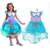 ariel lace - summer little mermaid princess ariel dress mermaid dress kids ariel tutu dress girl purple princess dress costume in stock