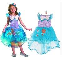 ariel tutu - summer little mermaid princess ariel dress mermaid dress kids ariel tutu dress girl purple princess dress costume in stock