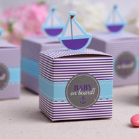 baby shower stamps - Creative Sailing Boat Shape Wedding Candy Box Baby Shower Favors Birthday Party Gift Packing Boxes