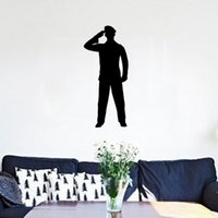 art deco theme - Lovely Army Soldiers Salute Military Theme Wall Stickers Decor Vinyl Decal Art Deco Living Room Bedroom