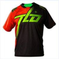 active trails - Troy Lee Designs TLD Skyline Tilt Dawn Orange Black Jersey BMX MTB Trail Top Short Sleeve Motor