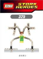 best child models - XH Building Blocks Super Heroes Avengers Doctor Octopus Minifigures Assemble Minifigures Building Bricks Model Children Best Toys