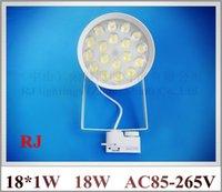 Wholesale high power LED rail spot lamp light LED track light spotlight W AC85 V LED W white warm white CE ROHS