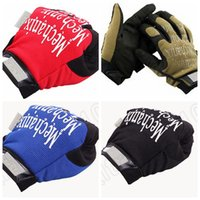 Wholesale 20PCS MMA24 Winter Outdoor Full Finger Motocycel Bicycle Mittens Mechanics Super General Edition Army Military Tactical Gloves
