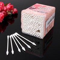 Wholesale 200PCS Pure Cotton Swabs Tipped Applicators Cotton Buds for Makeup Clean Care Set JC07099