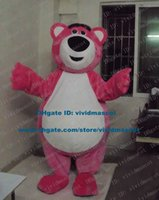 belly plus size - Clever Pink Lotso Huggin Bear Mascot Costume Cartoon Character Mascotte Adult White Belly Big Nose Round Ears ZZ1340 Free Ship