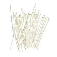 Wholesale 100 Stainless Steel Silver Plated Head Pins Needles Findings for Handmade DIY Jewelry Making